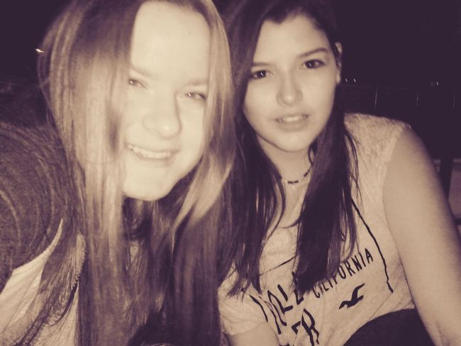 Hi! That's Me Russian Black & White **Hanging out with my friend Susana