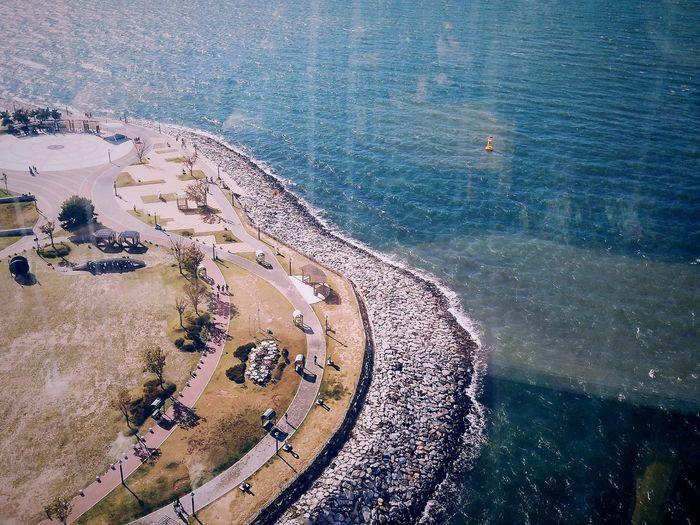 seaside Kwater south Korea Water Sea Beach Backgrounds Full Frame Close-up Sky