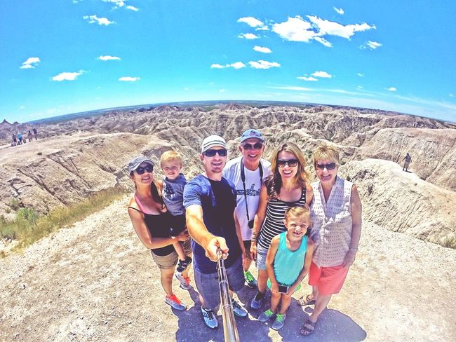 Family day at badlands national park