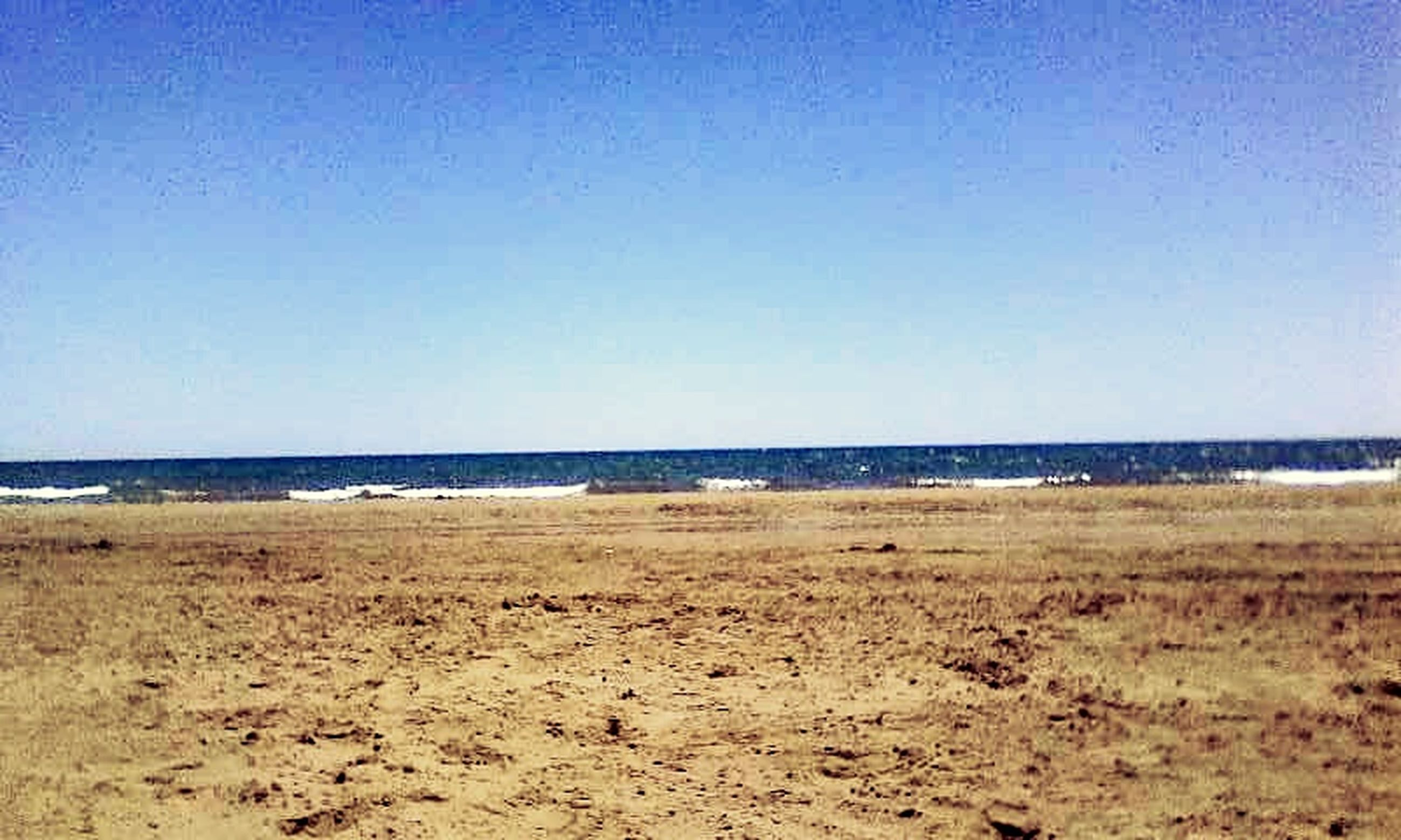 beach, clear sky, sea, horizon over water, copy space, sand, shore, tranquil scene, tranquility, water, blue, scenics, beauty in nature, nature, idyllic, remote, day, coastline, outdoors, calm