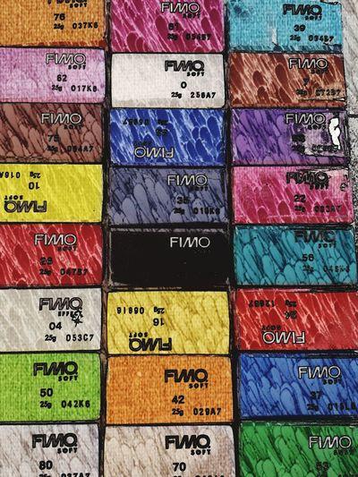 Full frame shot of colorful stack
