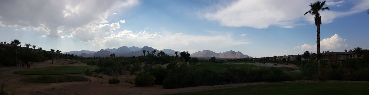 Cloud - Sky Mountain Landscape Tree Tropical Climate Agriculture Sky Outdoors Panoramic Sunset No People Nature Day Redrockcanyon Golf Course Golf Redrock Lasvegas