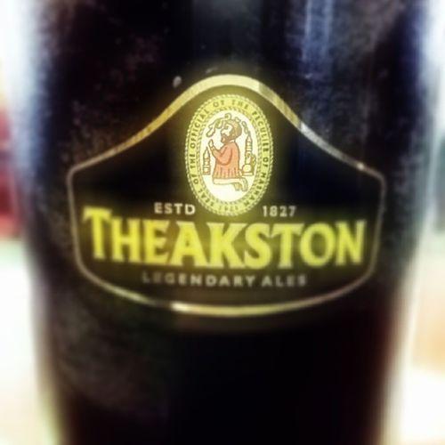 Theakston Ale Pint Glass Beer Dark Black