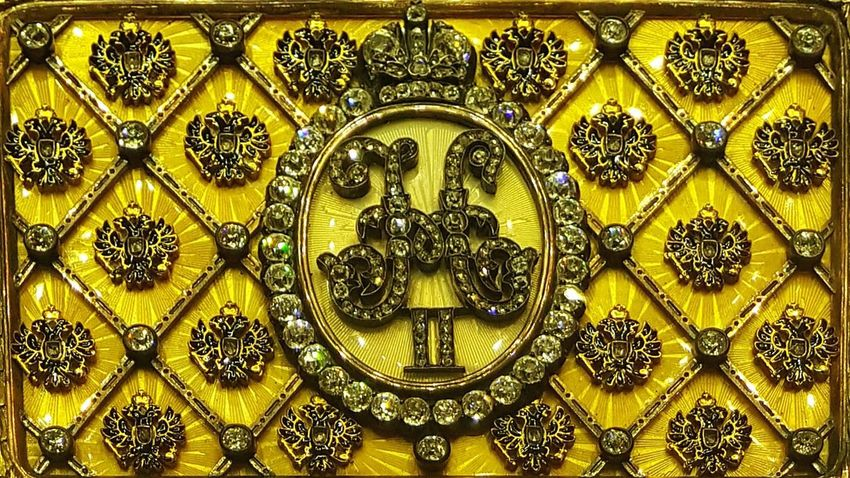 Design Pattern Indoors  No People Gold Colored Yellow Close-up Ornate Crown Czar Gold Antique St. Petersburg Royal St. Petersburg, Russia Art Russian Russia Faberge Museum Box Jewelry Jewellery Box