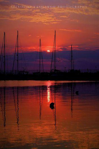 EyeEm Selects Water Nautical Vessel Sunset Silhouette Sun Reflection Beauty Sky Landscape Seascape
