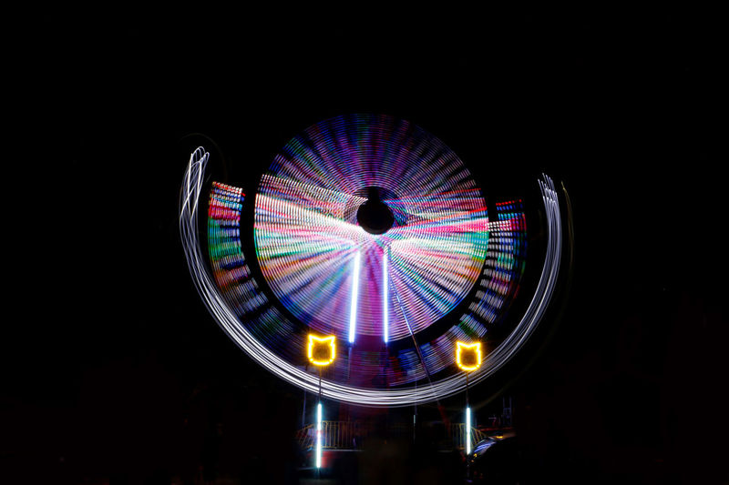 Amusement Park Circle Illuminated Light Night Multi Colored Night No People Outdoors