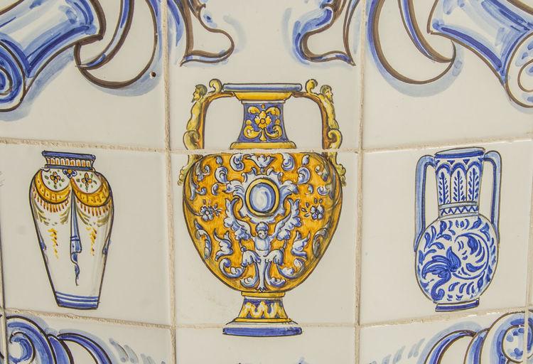 Architectural Feature Art Backgrounds Blue Ceramic Close-up Creativity Day Design Full Frame Geometric Shape Imagen Multi Colored No People Ornate Pattern Pottery Pottery Art Pottery Pieces Pottery Talavera SPAIN Stained Glass Talavera De La Reina Toledo Toledo Spain