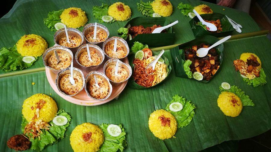 Nasi Liwet Nasi Liwet Indonesian Food Food Traditional Culture Traditional Food Of Indonesia Plate High Angle View Close-up Food And Drink Sweet Food Banana Leaf