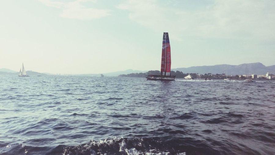 Toulon - France America'cup New-Zealand All Black Catamaran Mediterranean