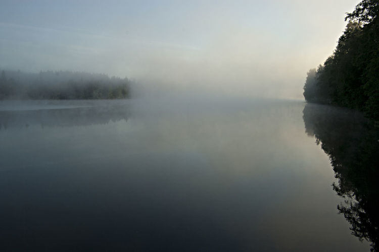 A Foggy Lake At Night In Finland A Lake In Finland A Lake Wakes Up Beauty In Nature Dreaming... Fog Foggy Small Hours Lake Nature No People Outdoors Peace Of Mind. Quiet Moments Reflection Reflection Lake Scenics Sky Summer Night At A Lake Tranquil Scene Tranquility Water