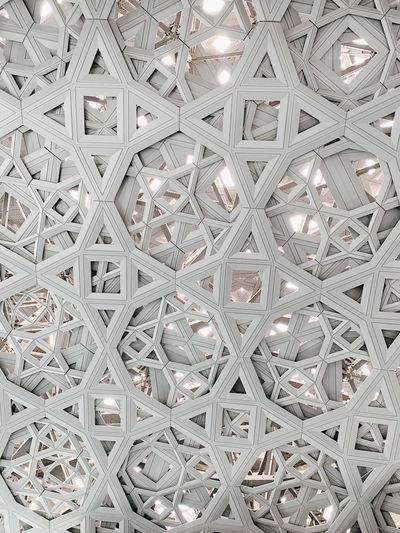 Full frame shot of patterned ceiling