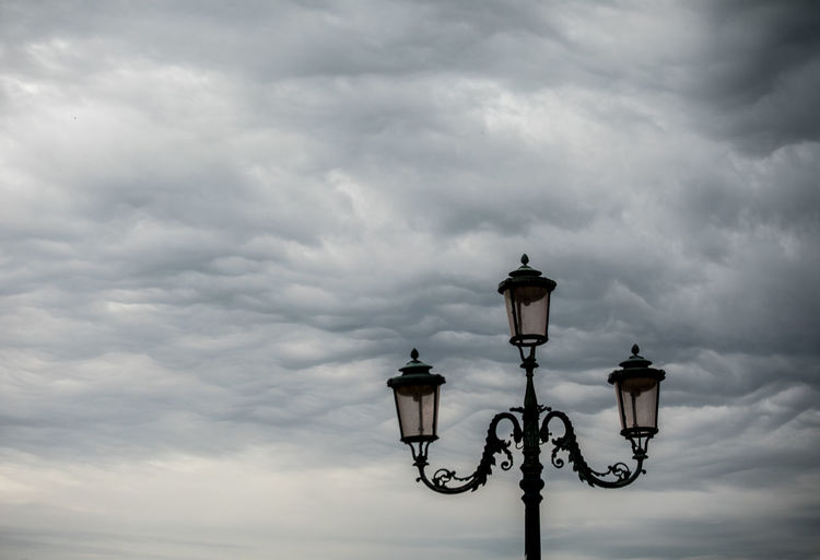 A Day in Venice Atmospheric Sky Cloud - Sky Day Low Angle View No People Outdoors Storm Cloud Stormy Sky Street Light Travel Destinations Travel Photography