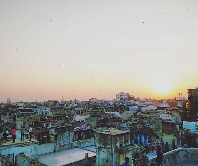 Whataa skyline 🌇 Uttarayan2016 Happyuttarayan Instagram_ahmedabad