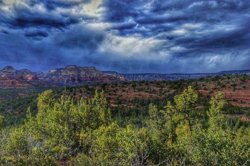 Sedona, Arizona Desert Storm Clouds Rain Desert Storm Arizona The Great Outdoors - 2016 EyeEm Awards Outdoor Photography Sky Nature Nikon HDR Hiking Desert Storm
