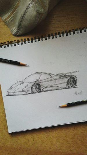 My favourite car Pagani PaganiZonda Exotic Cars Sport Cars Sketch My Sketch Pencil ArtWork