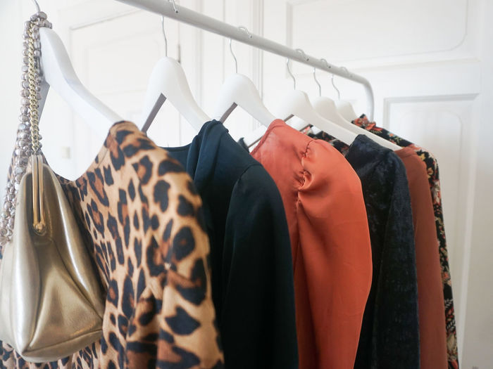 Womenswear Fashion Clothing Fabric Textile Leopard Print Dress Dresses Coathanger Business Consumerism Hanging Luxury Retail  Arts Culture And Entertainment Store Business Finance And Industry Fashion Clothes Rack Coat Hook Purse Shopping Mall Spending Money Shopaholic Department Store Boutique Trying On Closet Fitting Room Clothing Store