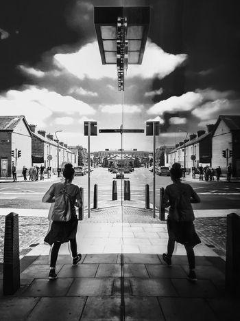 The Street Photographer - 2016 EyeEm Awards Reflection Streetphoto_bw Monochrome Faceless Stride Iphone6 Dublin Street Photography Dublin Ireland Smithfield