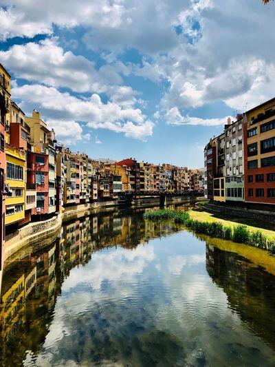 Girona temps de flors #Colores #colors #CATALUNYA #girona Cloud - Sky Day No People River Outdoors Building