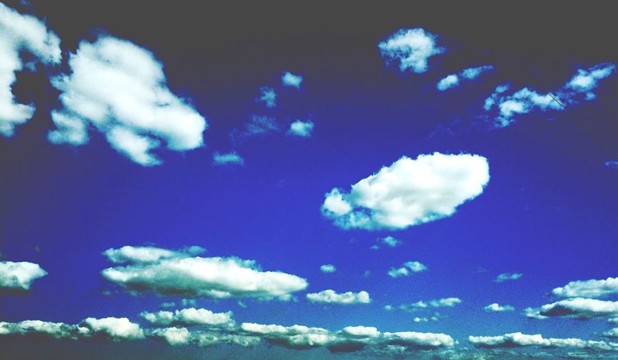 Cobalt Blue By Motorola Clouds And Sky Blue On The Road