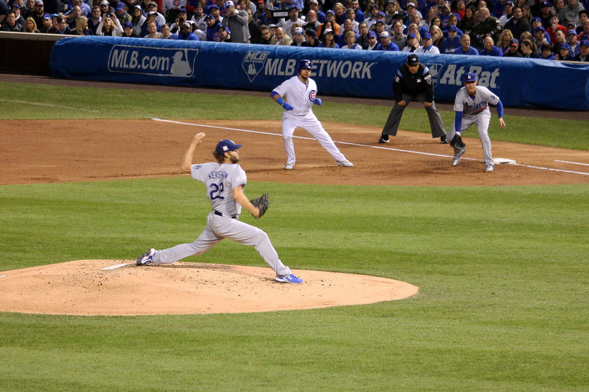 #NLCS #baseball Is Life #chicagocubs #kershaw #losangelesdodgers Athlete Baseball - Ball Baseball - Sport Baseball Bat Baseball Pitcher Baseball Player Baseball Uniform Batting Competition Large Group Of People Men Outdoors People Playing Field Real People Sport Sportsman Team Sport Teamwork