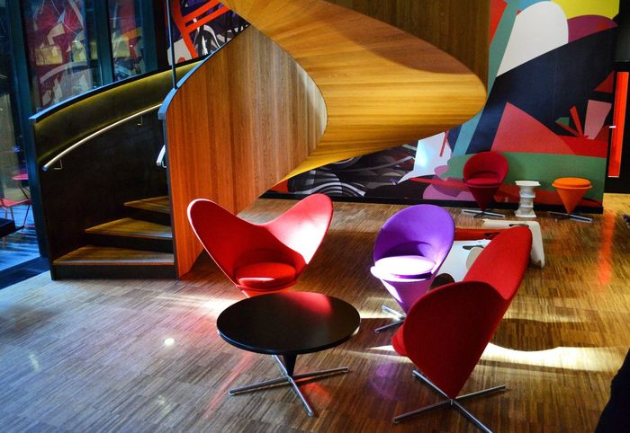 Colours Hotel Lobby Hotel CitezenM Shape Art Hotel Southbank Bank Holiday