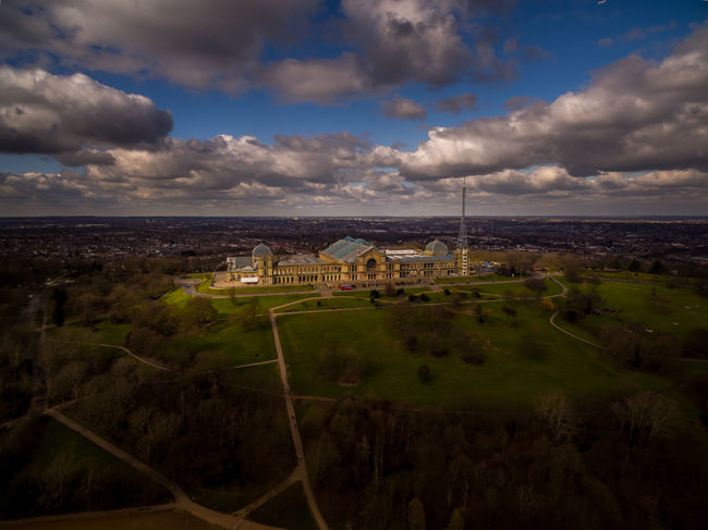 Alexandra Palace Architecture Castle Cityscapes Hill London Old Palace Sky View View From Above