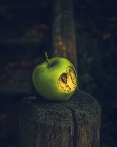EyeEmNewHere Apple Fairytale  Conceptual Bite Heart Shaped  Green Apple Green Close-up Green Color