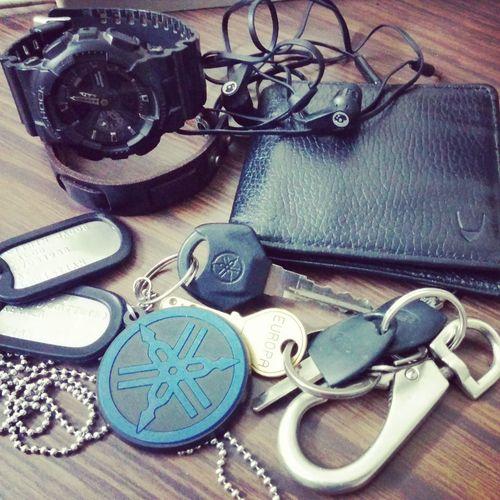 My stuff Yamahar15 Hidesign Gshock Militarytags #skullcandy #pune