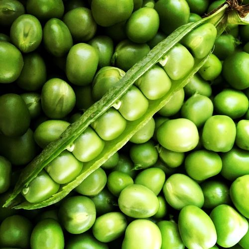Full frame shot of green peas