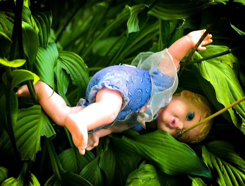 Childhood Green Color Child Playing Toys Distress Lost Lost Things Abandoned Close-up The Week On EyeEm Social Issues Family Doll No People No Person