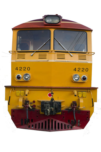 Day Education Isolated Old-fashioned Outdoors Train Train Thailand Yellow
