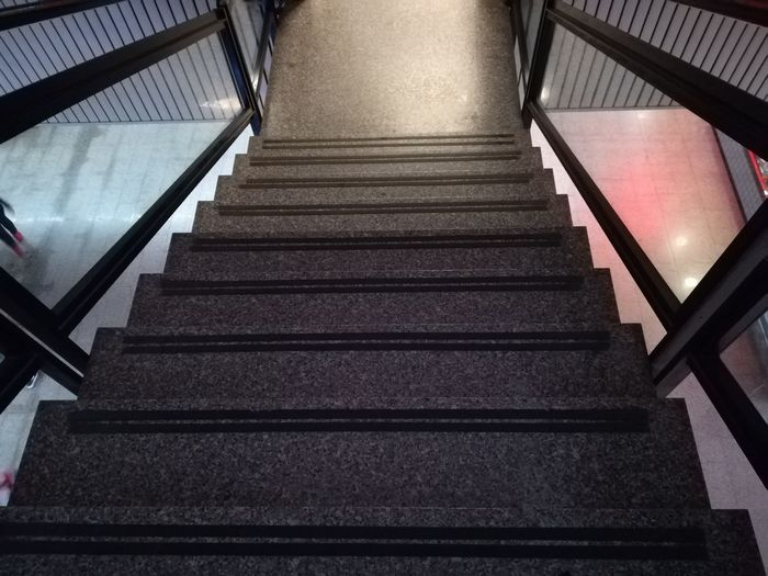 Anti-slip Strips Poor Lighting Staircase Railing Staircase Steps And Staircases Steps Railing Indoors  The Way Forward Architecture Illuminated Built Structure No People Hand Rail