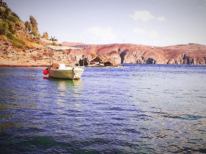 Beach Photography Lost In The Landscape Mykonos Island Mykonos,Greece Bluesea Boat Egeasea Landscape Mykonos Mykonosbeach Sea