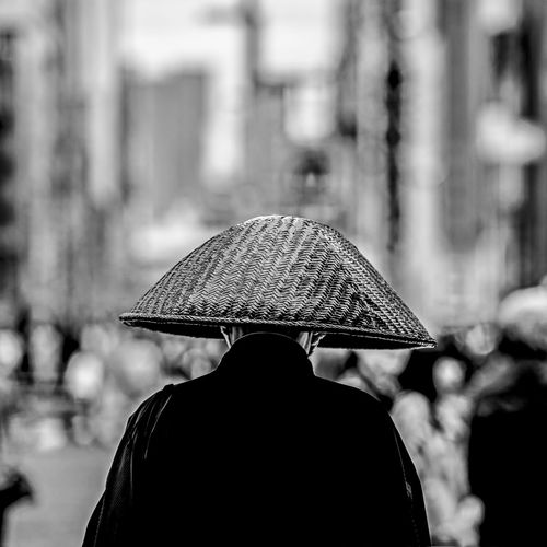 """""""The Monk"""" Adult Close-up Day Focus On Foreground Monk  One Man Only One Person Outdoors People Rear View Streetphotography The Street Photographer - 2017 EyeEm Awards"""