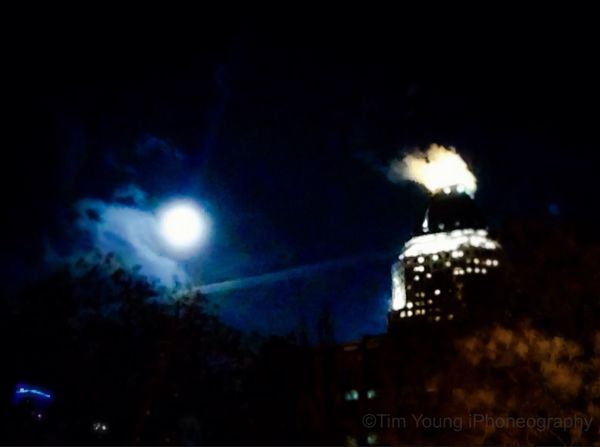 An amazing walk home under a lovely full moon in Hell's Kitchen Hells Kitchen Commute Streetphotography Manhattan