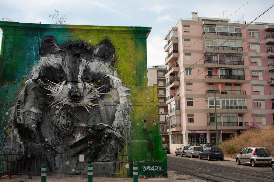 ArtWork Architecture Grafitti Lissabon, Lissabon