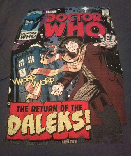 Doctorwho Drwho 4thdoctor Fourthdoctor Marvel Comics Tee Retro Daleks Tardis TomBaker BBC Studiotour Mediacentre