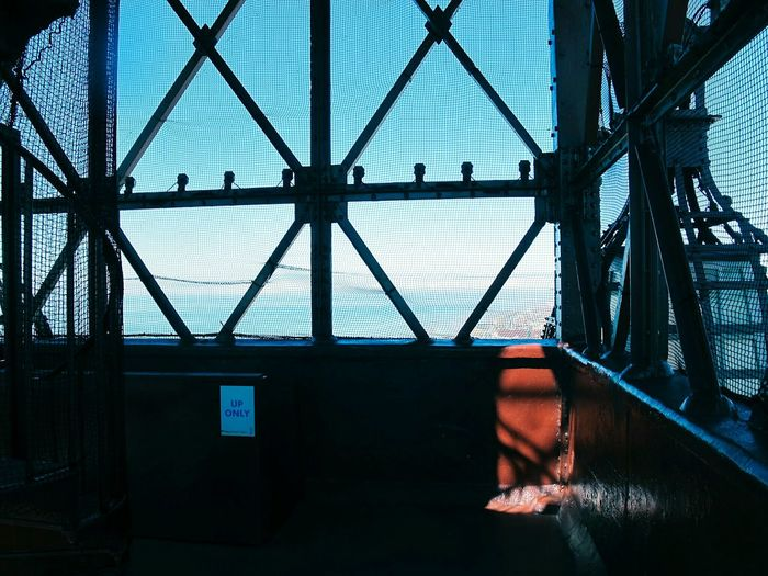 Sky Seen From Netting Of Blackpool Tower