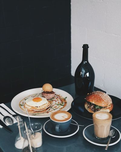 I rarely post food, but oh well! Brunch from Hammer & Tong on Brunswick St in Melbourne, VIC. Hammer And Tong Brunch Brunch Around The World Cafe Cafe Time Burgers Pancakes Hotcakes The Essence Of Summer Eye4photography  EyeEm Best Shots EyeEm Best Edits Coffee Coffeeshop Egg Minimal