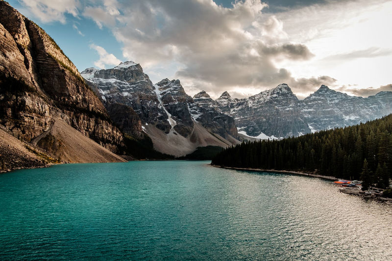 Alberta Moraine Lake  National Park Travel Beauty In Nature Canada Cloud - Sky Day Lake Mountain Mountain Range Mountains No People Non-urban Scene Outdoors Remote Rockies Scenics Scenics - Nature Sky Summer Tourism Tranquil Scene Tranquility Water The Great Outdoors - 2018 EyeEm Awards