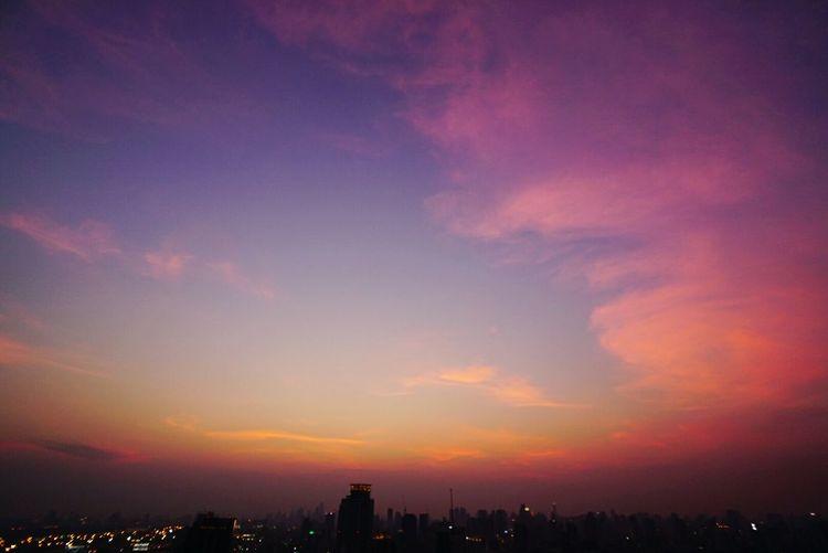 Bangkok Sky Twilight Beautiful Sunset