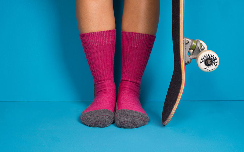 Barefooted skate session... Skateboarding Skateboard Studio Shot Skate Photography: Same Tricks, New Perspectives Low Section Young Women Studio Shot Colored Background Standing Arts Culture And Entertainment Sock Human Leg Blue Close-up Blue Background Human Foot Feet