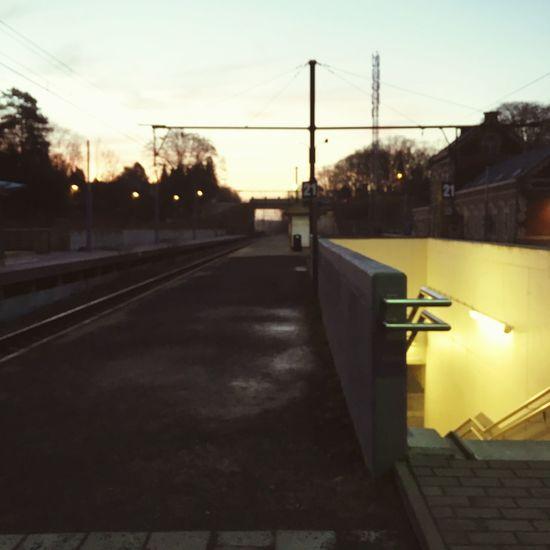 Train Station Gare La Hulpe Morning Light Matin Hiver Winter