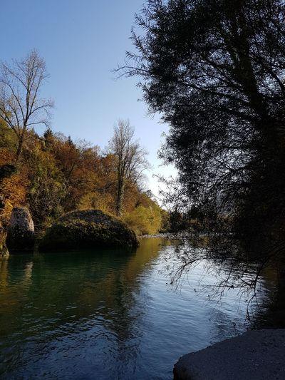 In riva al natisone Reflection Tree Water Beauty In Nature Outdoors Nature Sky No People Landscape Natisone Friuli Venezia Giulia Udine Italia