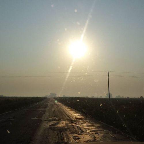 Poranek Mgła Drogadopracy