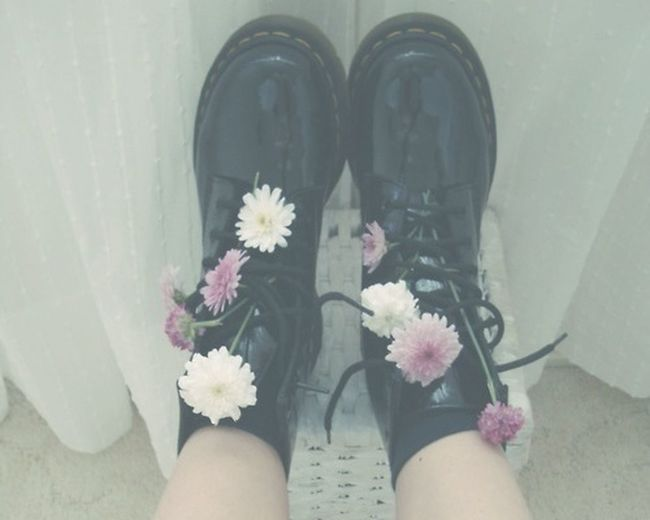 Flowers Shoes Dr Martens Fashion