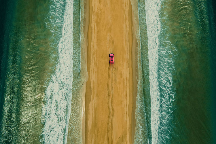 Chasing dreams Aerial Aerial Photography Aerial Shot Aerial View Beach Sand Car Creative Creative Photography Creative Shots Creativity Ocean Ocean View Pick Up Sand Sea Tire Track Tire Tracks On The Beach Wave Waves Waves, Ocean, Nature Long Goodbye EyeEm Diversity