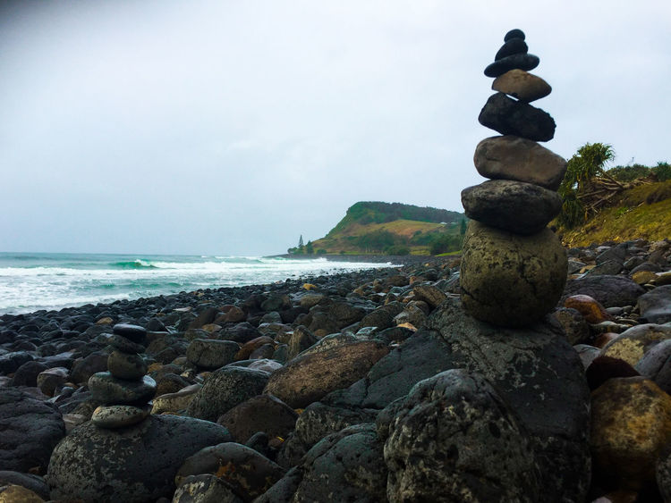 Beach Beauty In Nature Day Horizon Over Water Nature No People Outdoors Pebble Rock - Object Scenics Sculpture Sea Sky Stack Statue Stone - Object Tranquil Scene Tranquility Water Zen Zen Garden