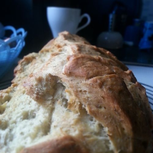 Day 1 | lunch | hubby made fresh bread with spices yummie Loveit Freshbreadisthebest Fmsphotoaday