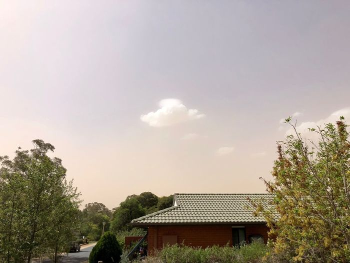 OneCloud No Filter Roof Nobluesky Dust Cloud Sky Tree Cloud - Sky No People Outdoors Nature Built Structure Day Architecture Beauty In Nature Building Exterior